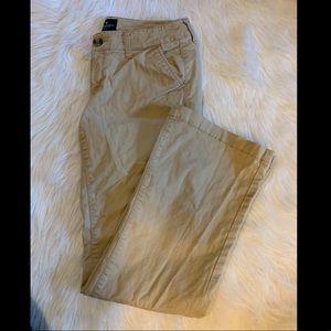 American Eagle Kick Boot Cut Khaki Pants -6 Short